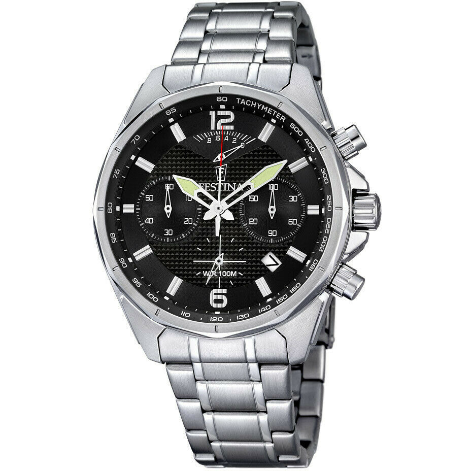 Orologio uomo cronografo con cinturino in acciaio  Festina Timeless F6835/4