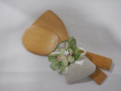 Palettine legno con sacchetto Cuorematto Cuorfarfalla cod. d4935 Idea Regalo