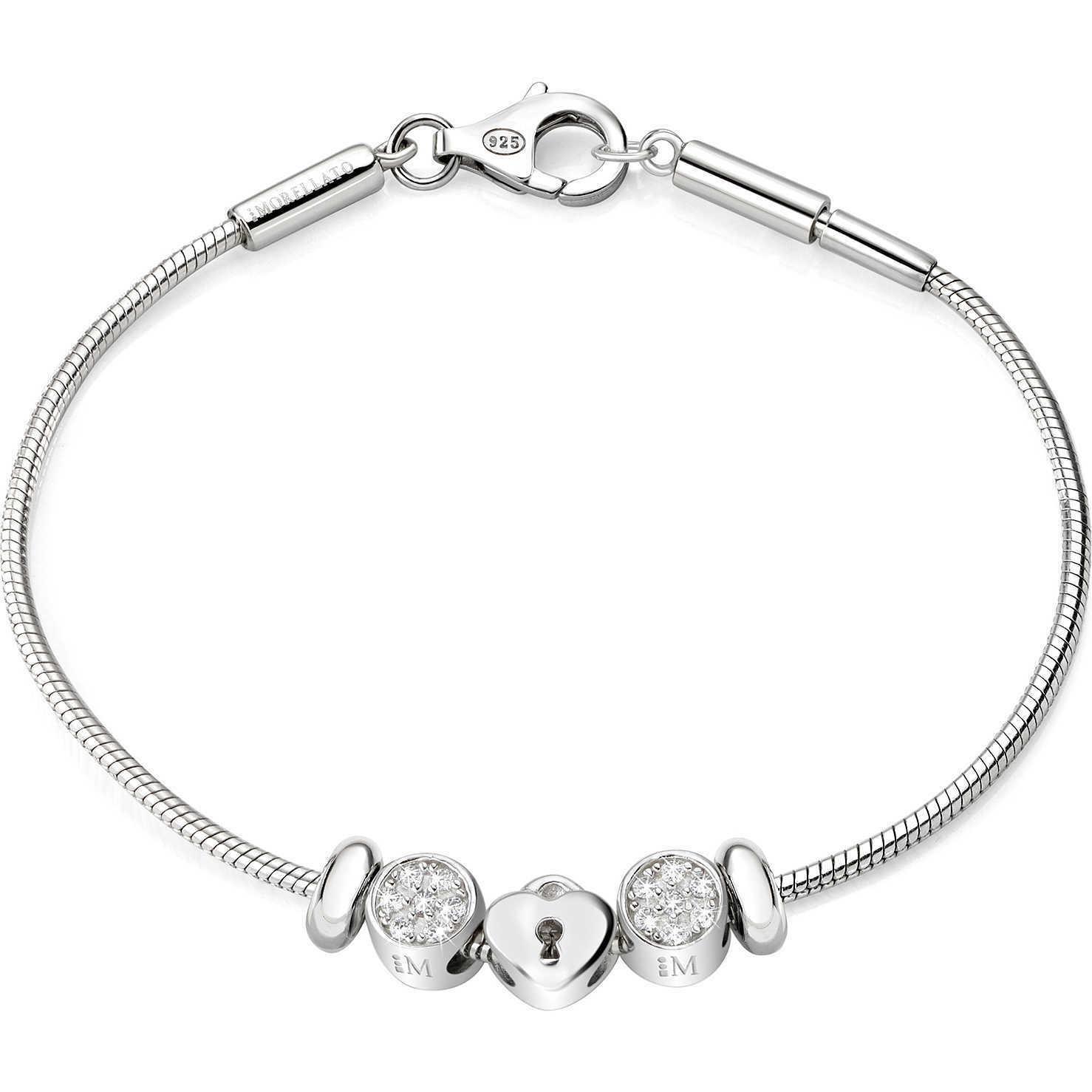 Bracciale donna in argento 925  Gioielli Morellato con charm cuore SAFZ76