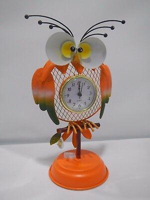 Gufetto orologio in metallo Cuorematto arancione D5424
