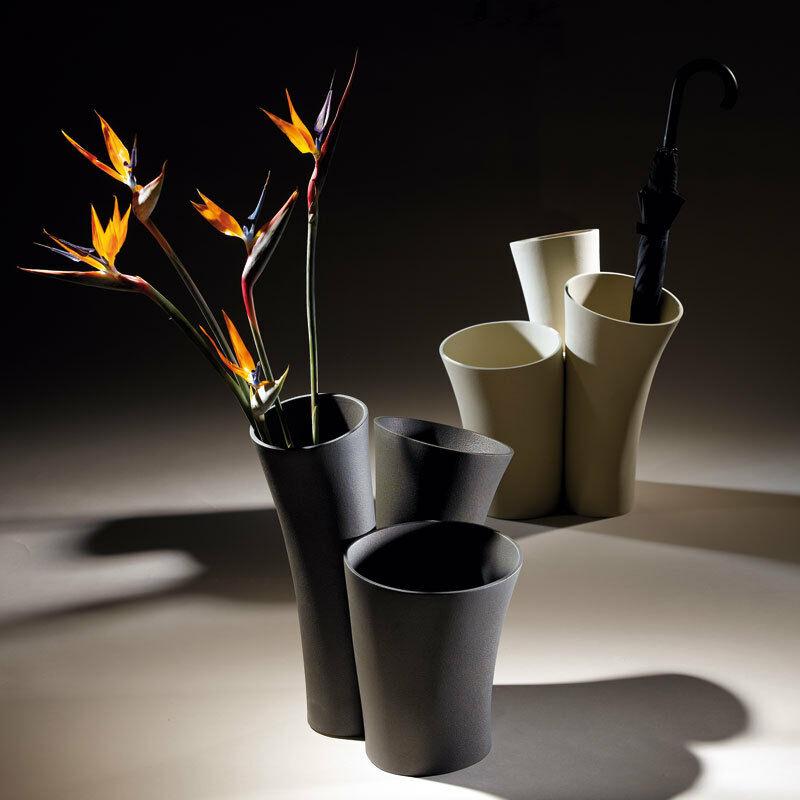 Scultura  Design Vaso Porta ombrelli Vaso scultura in grès porcellanato Lineasette VM628TR Made in Italy
