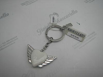 Portachiavi donna Morellato in acciaio cuore bianco con ali cod. SD6311