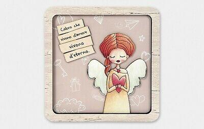 Quadretto in legno da poggio e da parete con frase Amore Estego 0511306