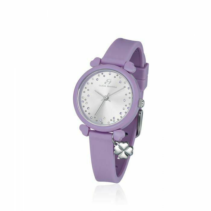 Orologio in silicone lilla donna Luca Barra Lucky Time trendy cod. LBBW228