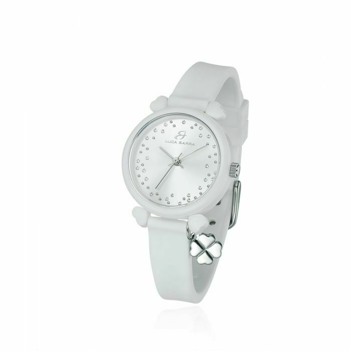 Orologio in silicone bianco donna Luca Barra Lucky Time trendy BW222
