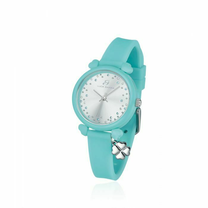Orologio in silicone verde donna Luca Barra Lucky Time cod. BW233