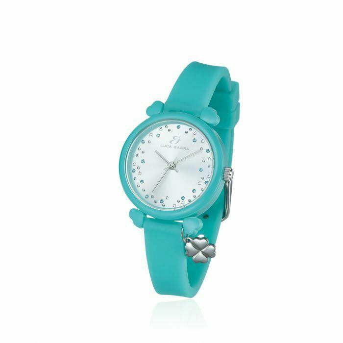 Orologio in silicone verde smeraldo donna Luca Barra Lucky Time cod. BW231