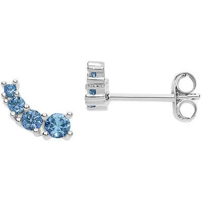 Orecchini donna Gioielli Comete Farfalle cristalli azzurri ORA141
