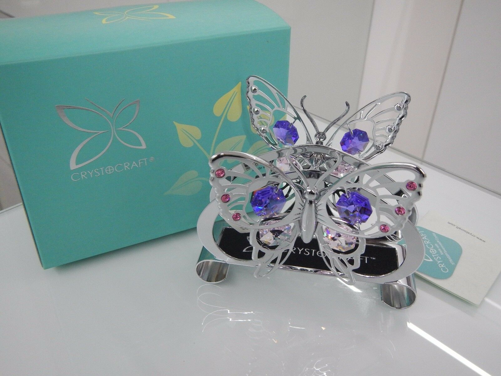 Portatovaglioli Farfalle Butterfly Crystocraft Cristalli Swarovski U0221-120-CM4