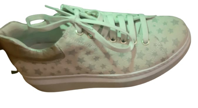 Scarpa Sneaker donna in pelle scamosciata   stampa a stelline   made in Italy
