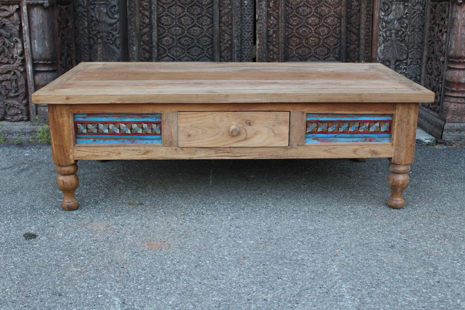 Tavolino da salotto in legno di teak indonesiano