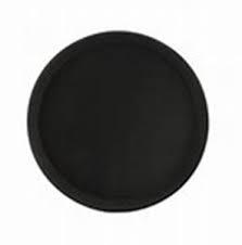 Tablett camtray fiber schwarz rund (6stck)