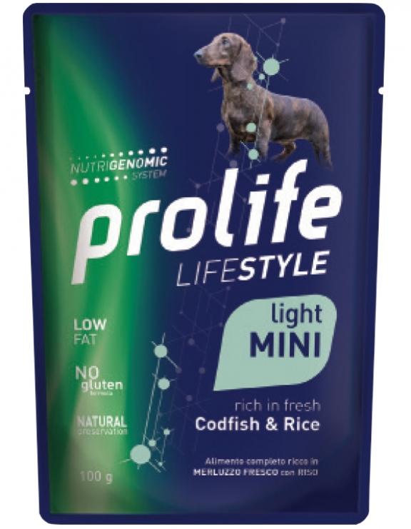 PROLIFE LIFESTYLE LIGHT MINI CODFISH & RICE BUSTA 100 GR.