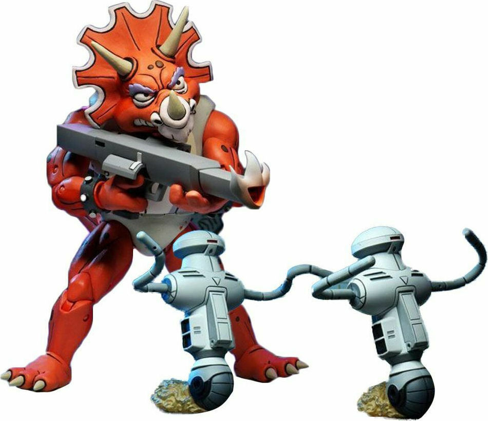 *PREORDER* Teenage Mutant Ninja Turtles Action Figure: TRICERATON INFANTRYMAN & ROADKILL RODNEY by Neca
