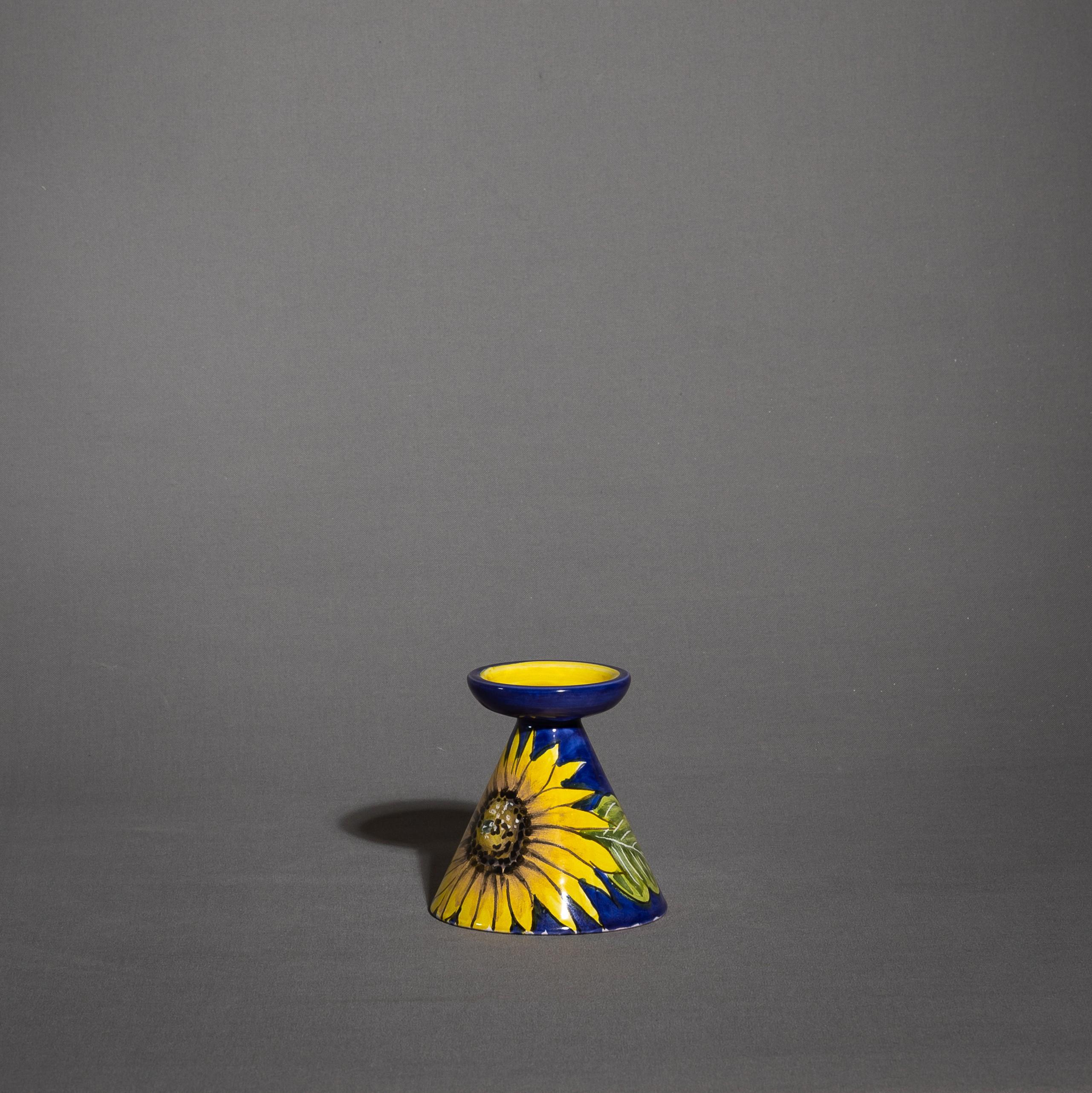 Porta candele in ceramica