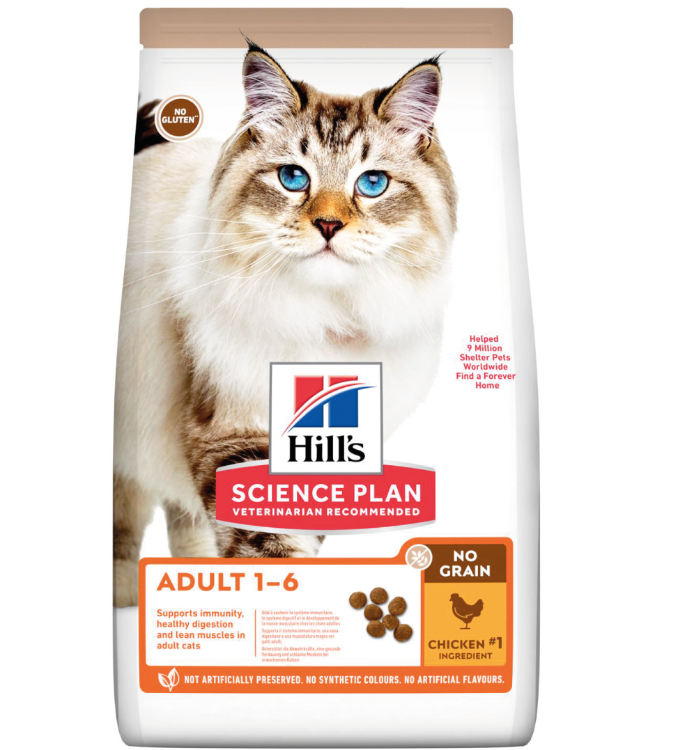 Hill's - Science Plan Feline - Adult No Grain - Pollo - 1.5kg