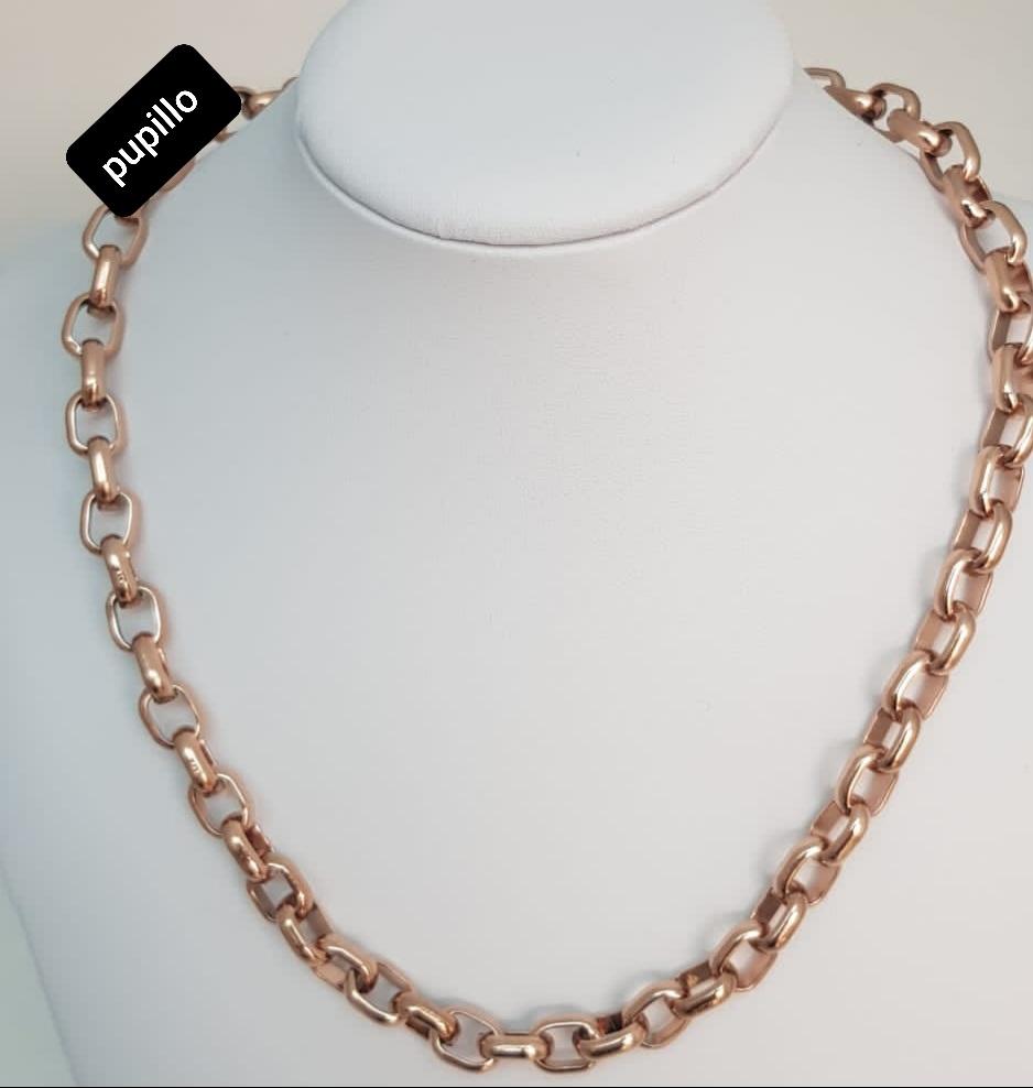 collana  acciaio gold rose  catena