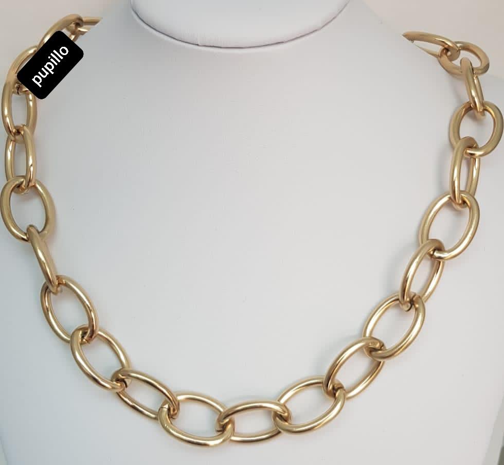 collana acciaio gold  catena