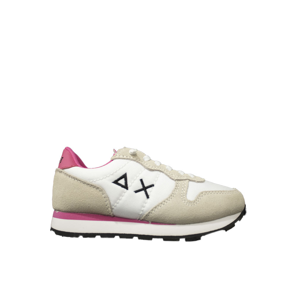 Sun 68 Sneaker Bianco/fuxia