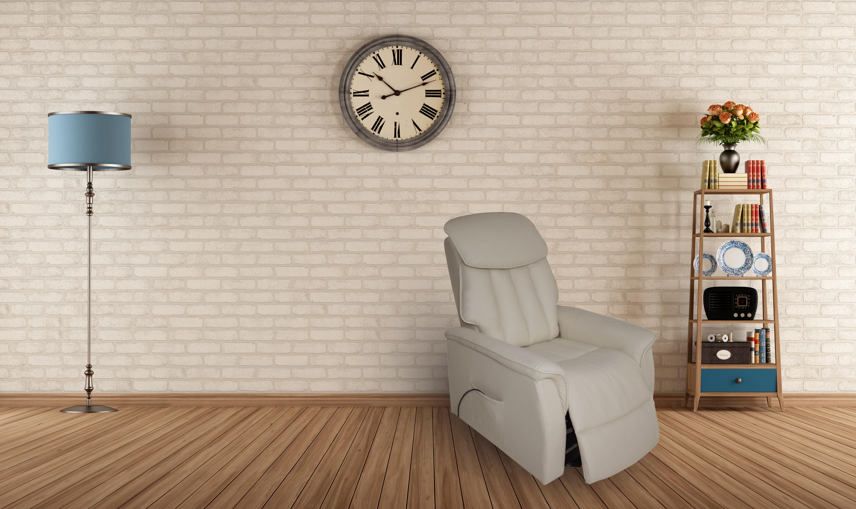 MOON - Poltrona relax elettrica massaggiante reclinabile con poggiapiedi