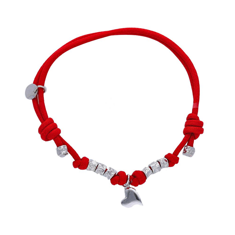 Bracciale Charm con Cordino Rosso