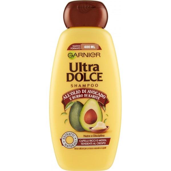 GARNIER ULTRA DOLCE Shampoo all'olio di Avocado e burro di karitè 400 ml
