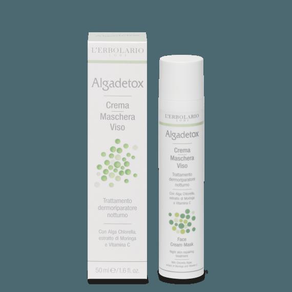 Algadetox Crema-Maschera Viso - Trattamento dermoriparatore notturno 50 ml
