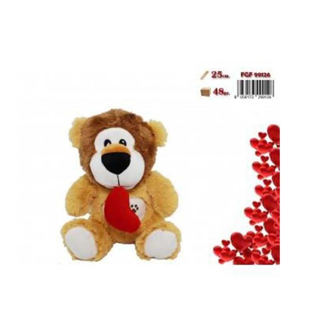 FGF Leone Peluche Con Cuore Romantico San Valentino