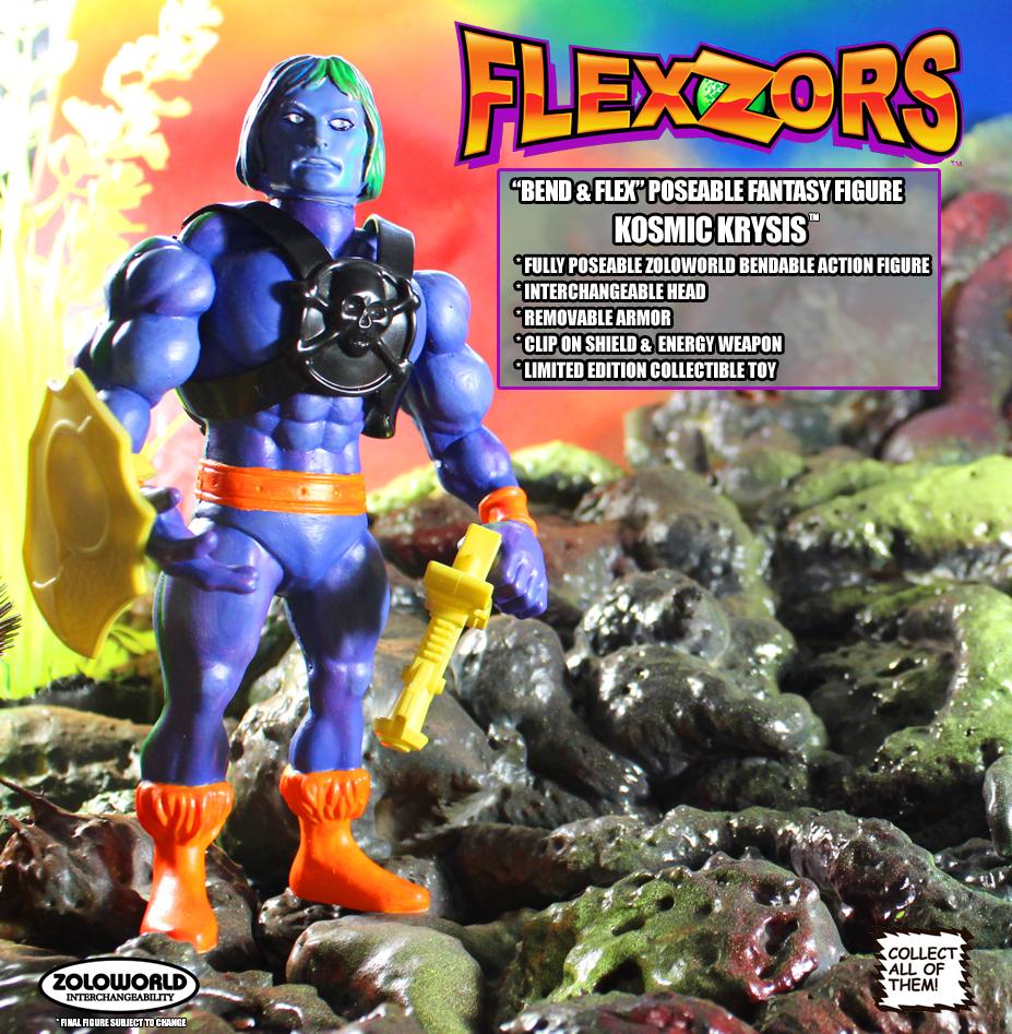*PREORDER* FLEXZORS Bendable figures: KOSMIC KRYSIS Intergalactic Warrior by Zoloworld