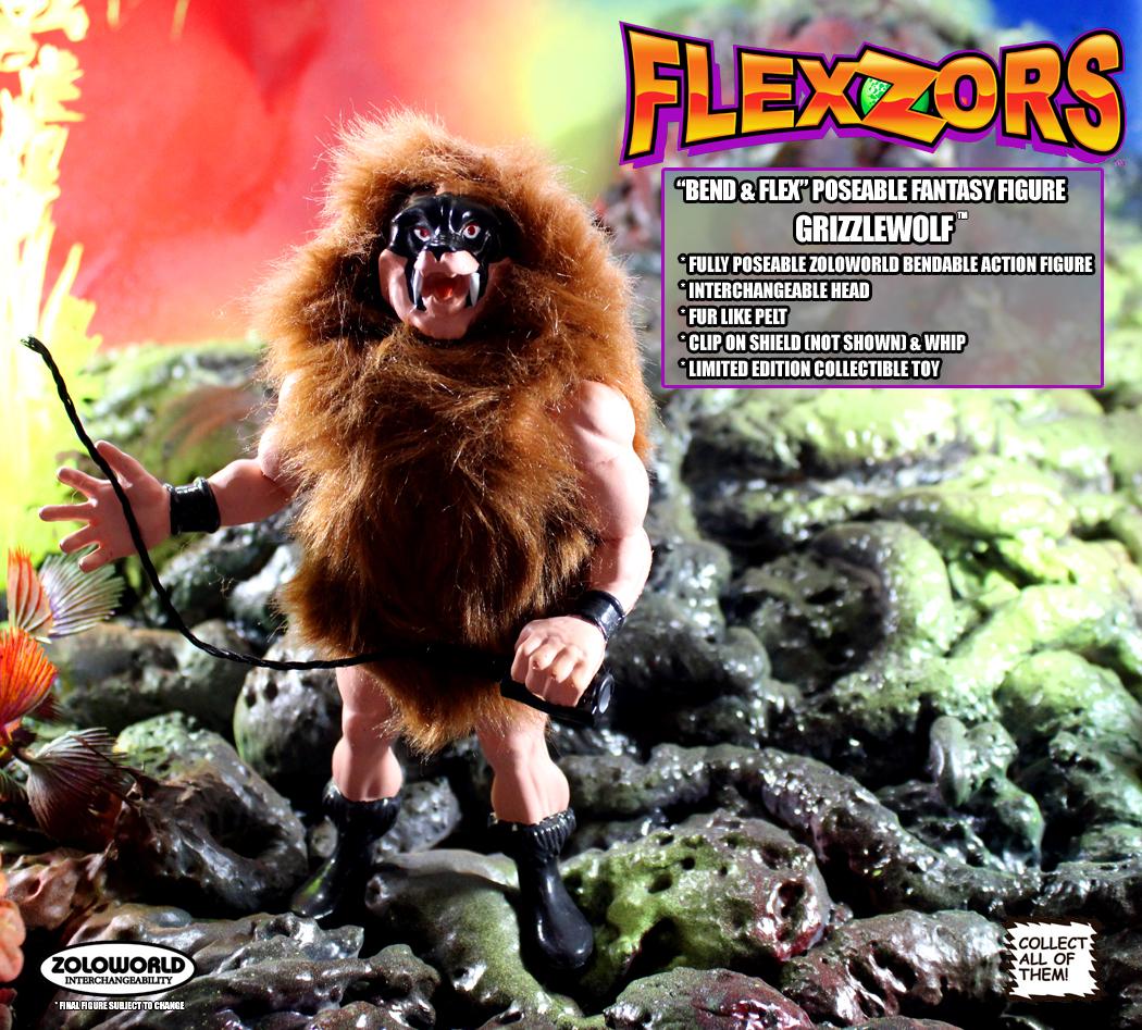 *PREORDER* FLEXZORS Bendable figures: GRIZZLEWOLF Warrior Beast by Zoloworld