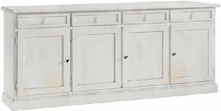 Base Credenza 4 ante in Finitura Consumata -2