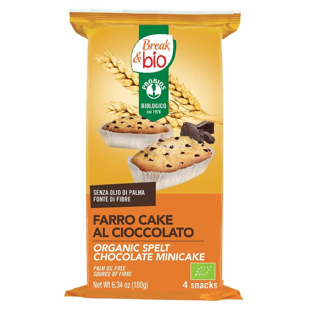 FARRO CAKE AL CIOCCOLATO  (4x45g) 180g  BREAK & BIO