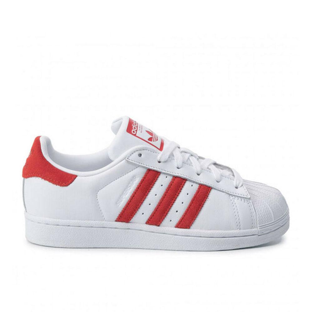 Adidas Superstar Bianco Rosso da Uomo
