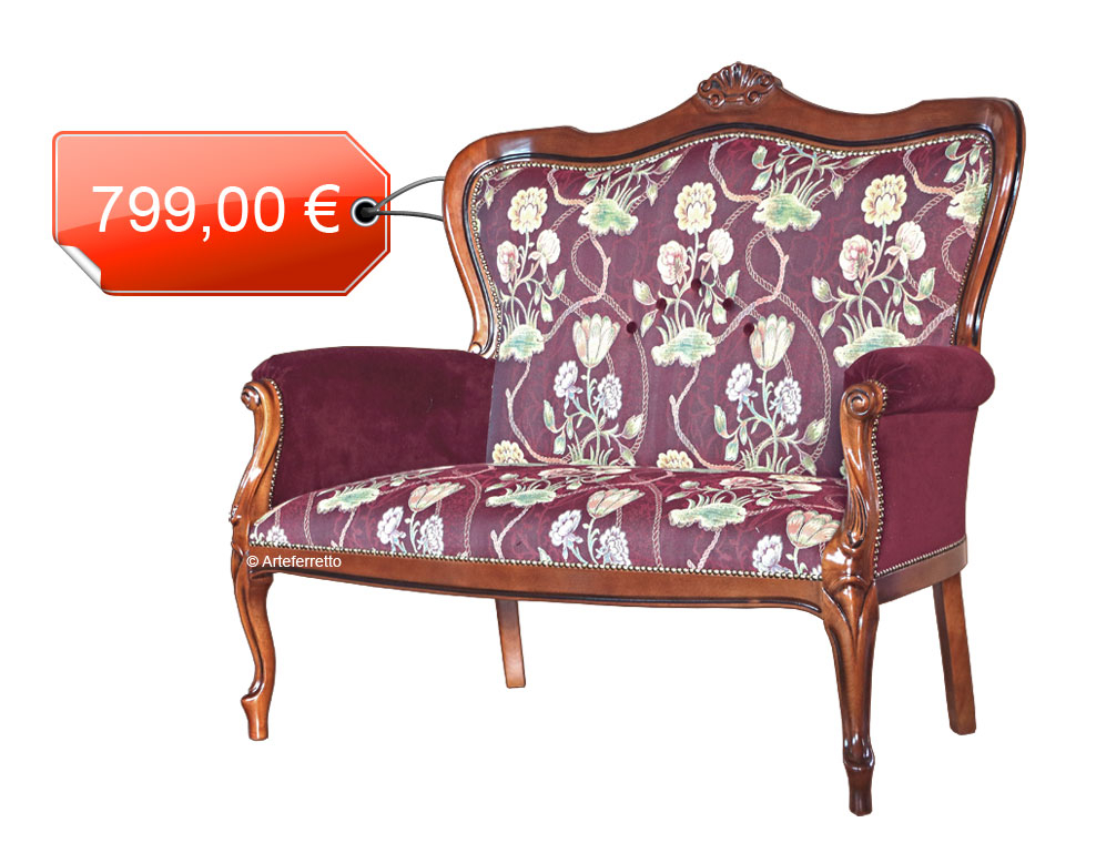 Klassisches Sofa 2 Sitze