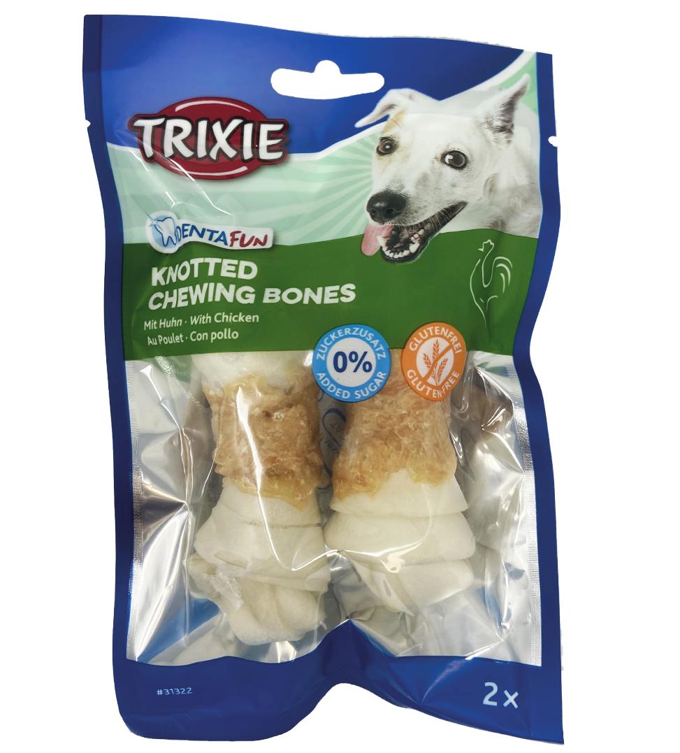 Trixie - Denta Fun - Osso annodati con pollo 11cm 2 pezzi