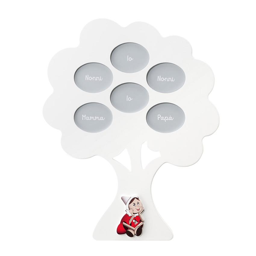 Portafoto multiplo albero genealogico Pinocchio Mendozzi Made in Italy