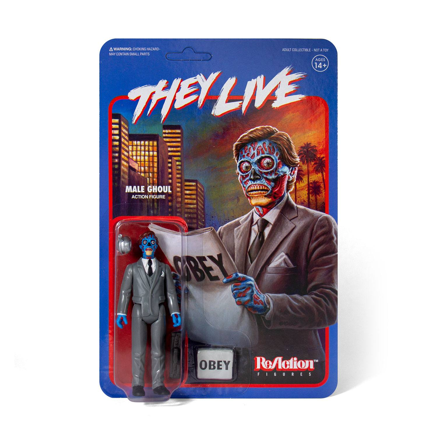 *PREORDER* Essi Vivono - They Live ReAction Action Figure: MALE GHOUL by Super7