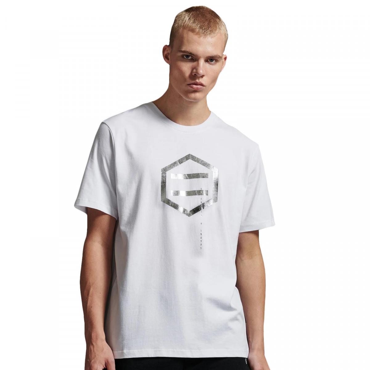 T-Shirt Dolly Noire Hexagon White & Chromo