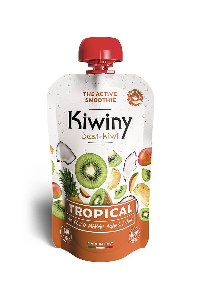 Kiwiny Tropical Smoothie (6 pz) - Frullato kiwi, ananas, mango e latte di cocco