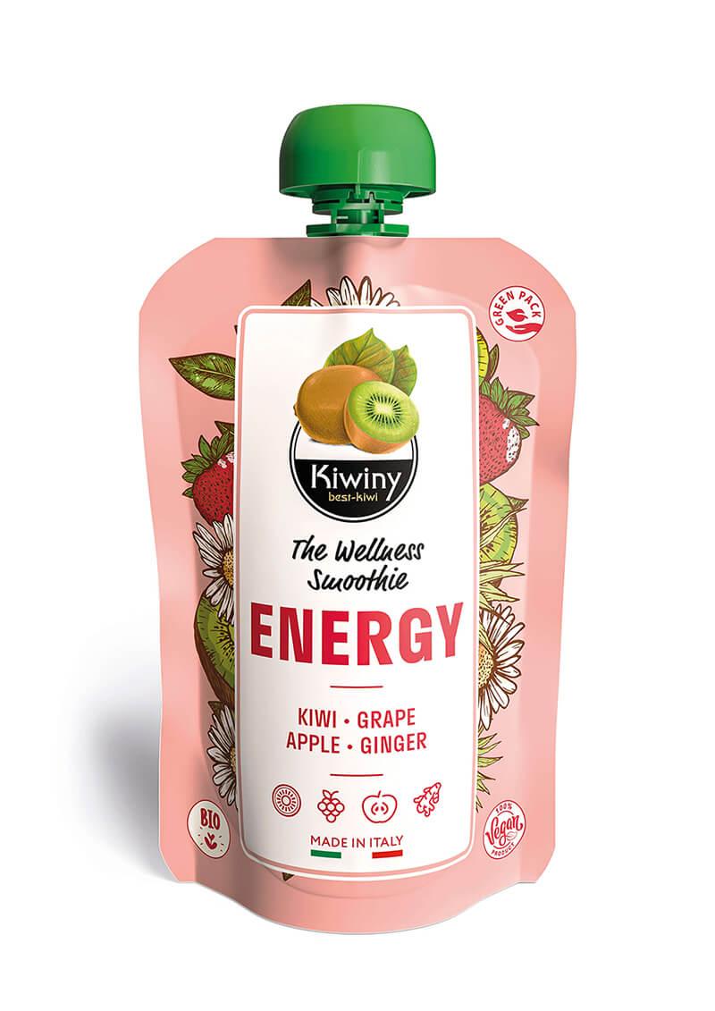 Kiwiny Energy Smoothie (6 pz) - Frullato kiwi, mela e zenzero