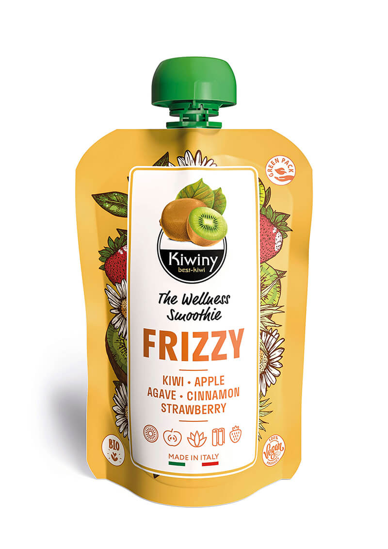 Kiwiny Frizzy Smoothie (6 pz) - Frullato kiwi, mela e fragola