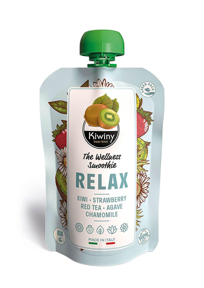 Kiwiny Relax Smoothie (6 pz) - Frullato kiwi, fragola, tè rosso e camomilla