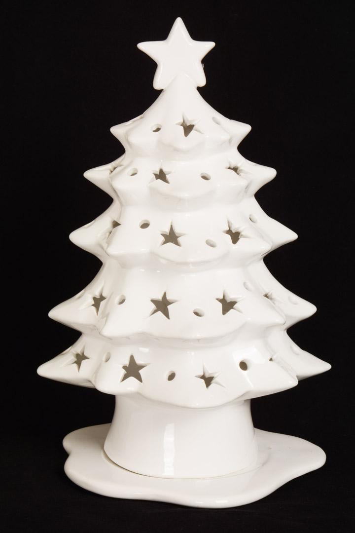 Albero con stelline in ceramica cm 35