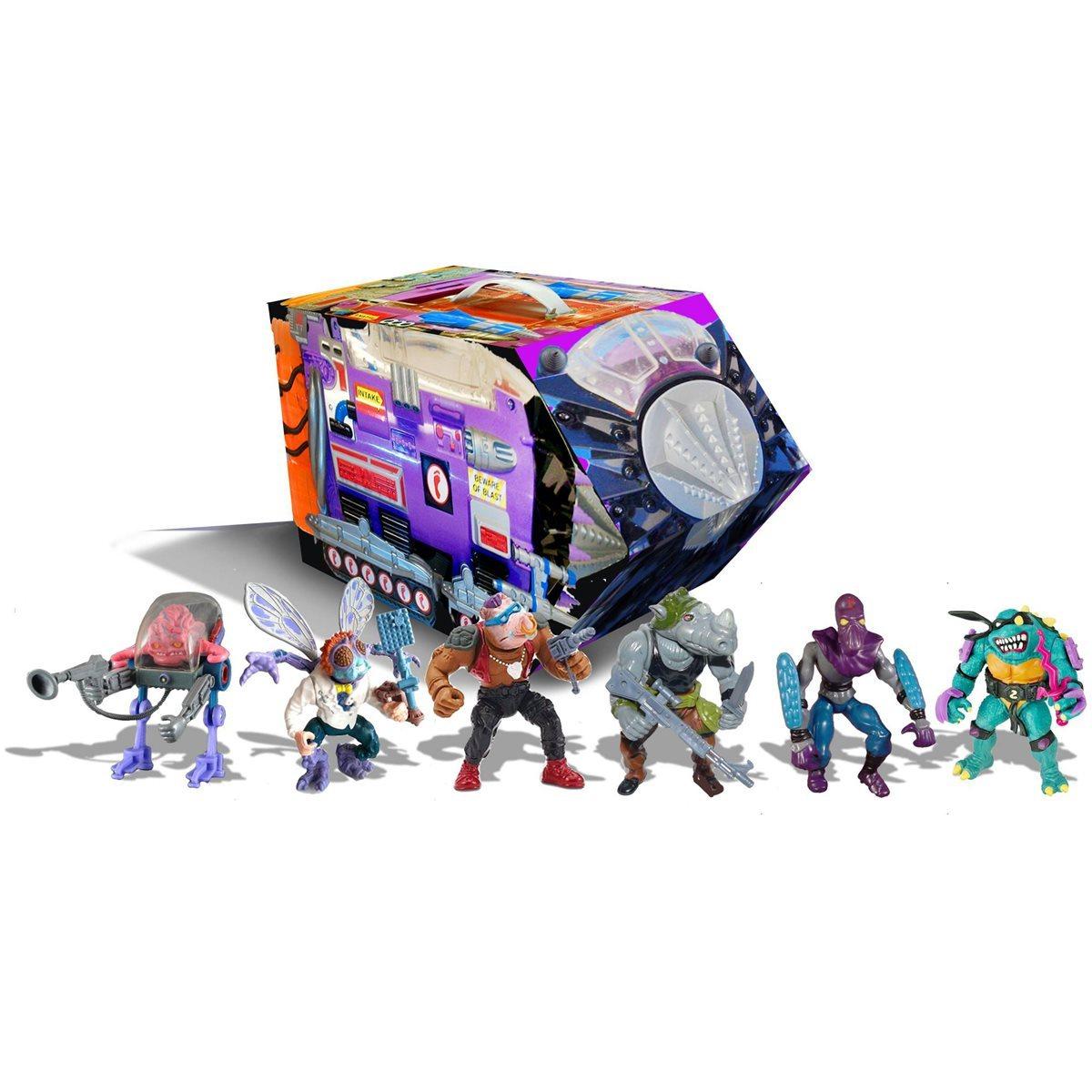 Teenage Mutant Ninja Turtles: Retro Villains Mutant Module Rotocast Action Figure 6-Pack - Previews Exclusive by Playmates