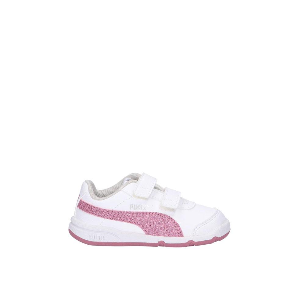 Puma Stepfleex 2 Glitz Bianco Rosa Junior