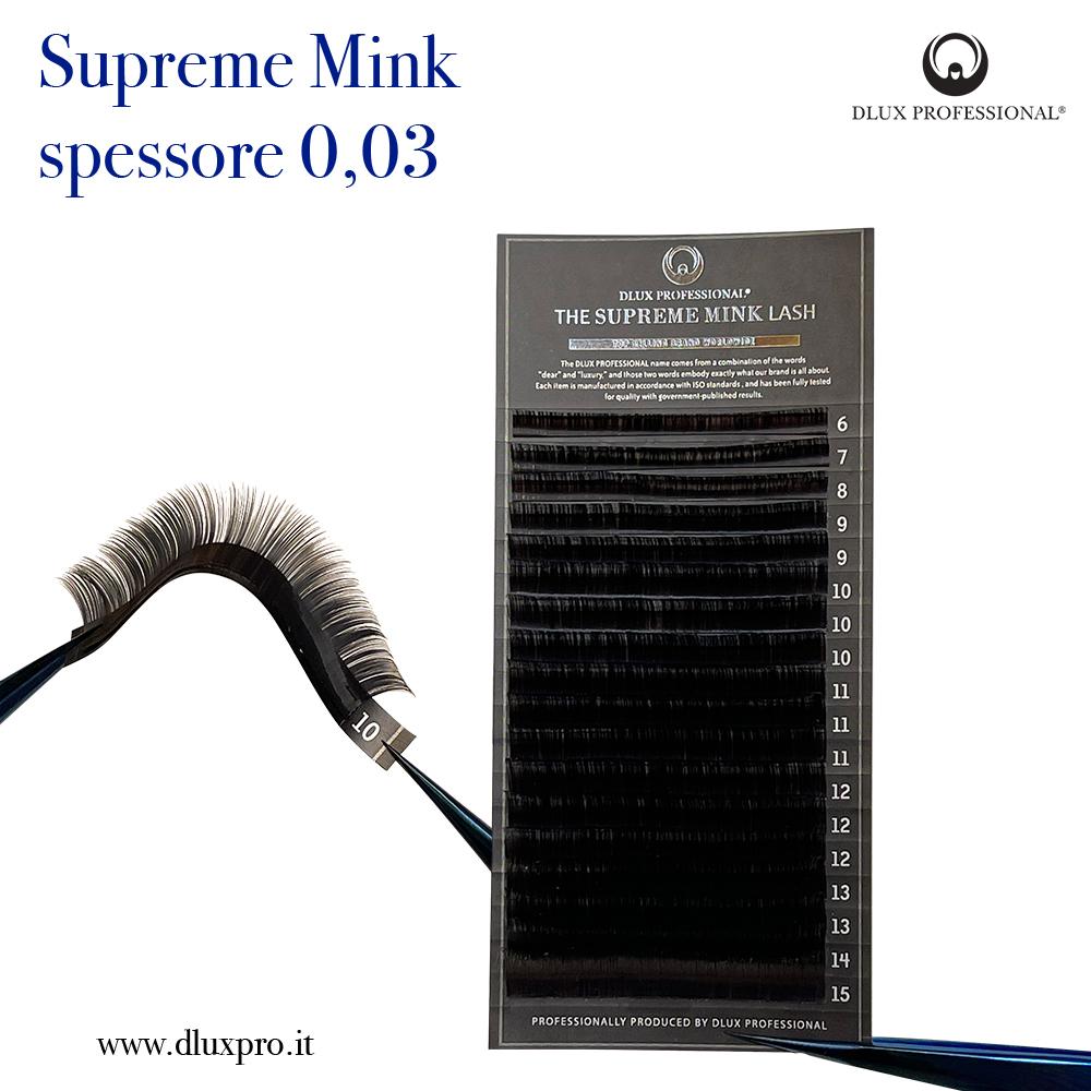 Ciglia per Extension 0,03 mm Supreme Mink, DLux Professional