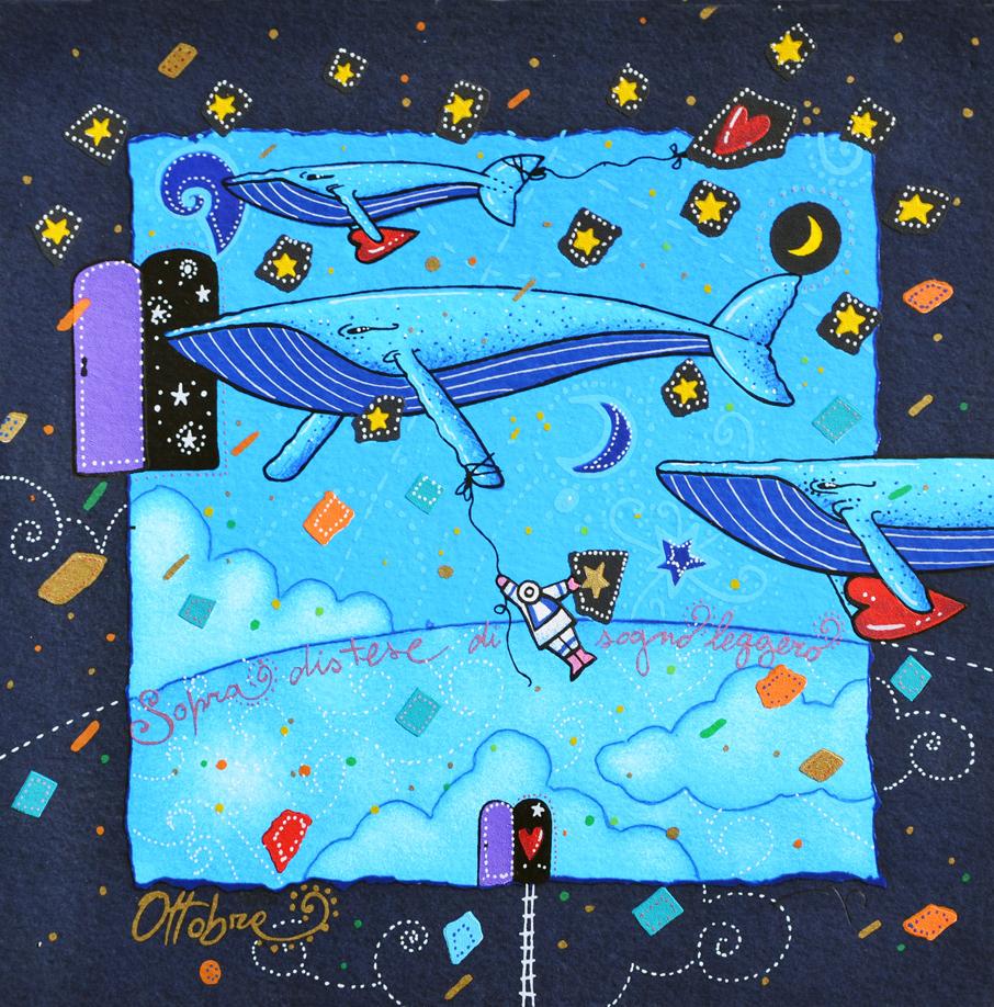 Agostini Andrea Sopra distese di sogno leggero Serigrafia Formato cm 25x25