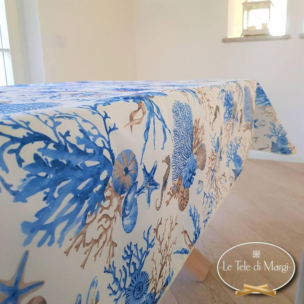 Tovaglia antimacchia Coralli blu