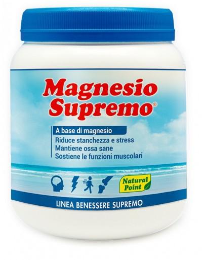 MAGNESIO SUPREMO 300 GRAMMI RIDUCE STANCHEZZA E STRESS, MANTIENE OSSA SANE, SOSTIENE LE FUNZIONI MUSCOLARI E IL SISTEMA NERVOSO.