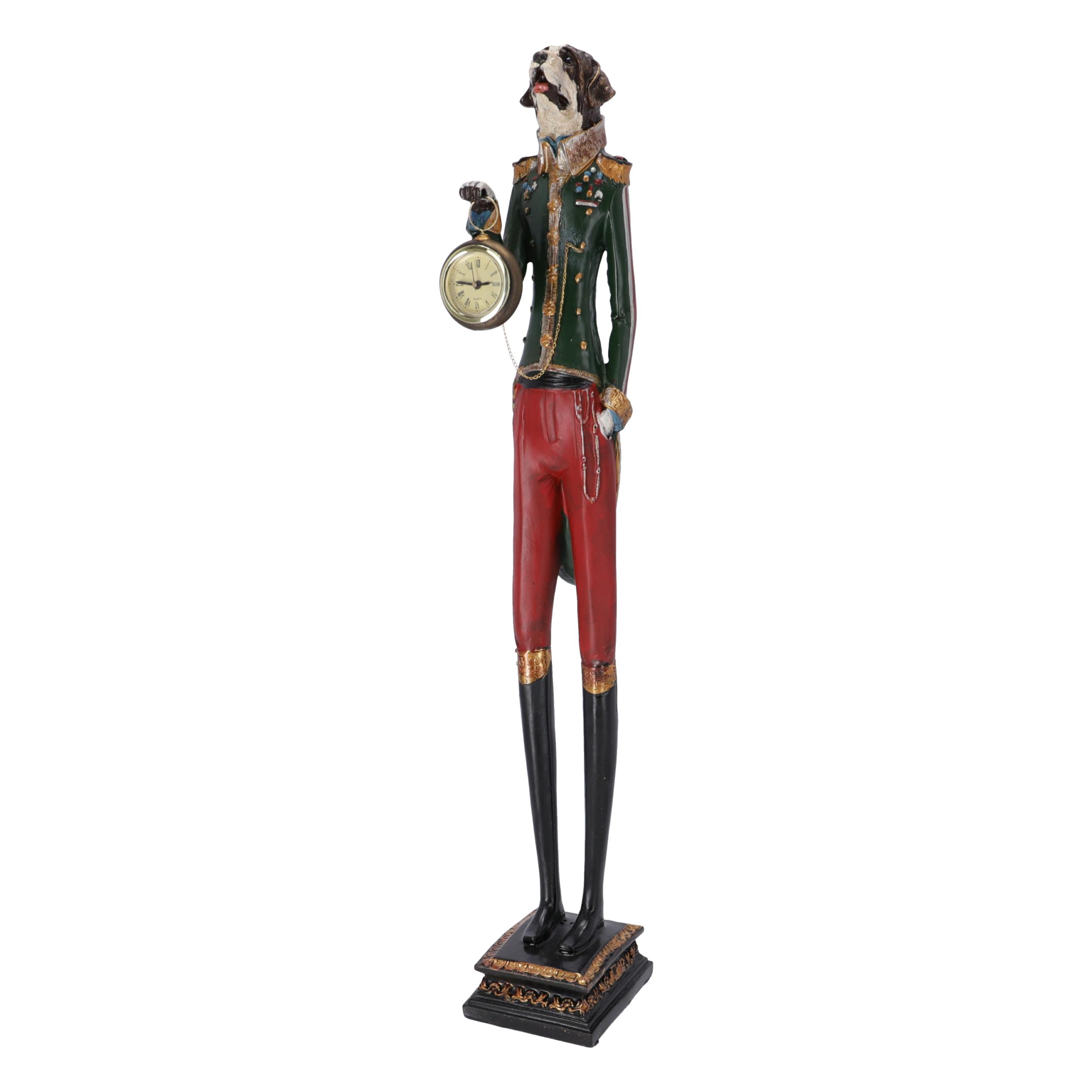 Statua Cane Orologio in resina